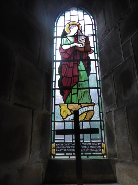 St Philip, Burwash Weald: stained glass window (A)