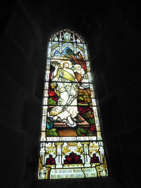 St Philip, Burwash Weald: stained glass window (C)