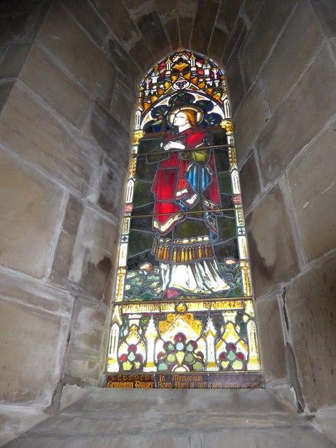 St Philip, Burwash Weald: stained glass window (D)