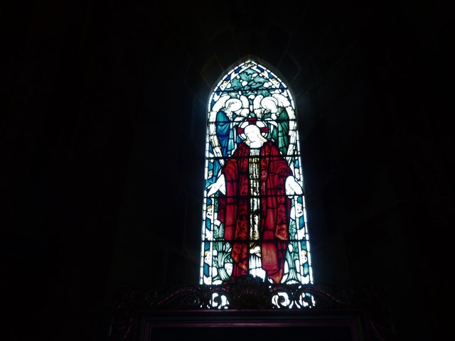 St Philip, Burwash Weald: stained glass window (F)