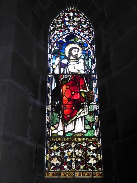 St Philip, Burwash Weald: stained glass window (H)