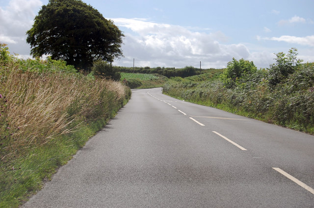 A3124 towards Torches Corner