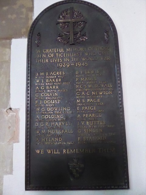 St Mary, Ticehurst: memorial (1)
