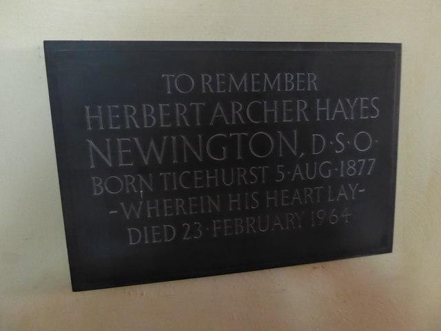 St Mary, Ticehurst: memorial (5)
