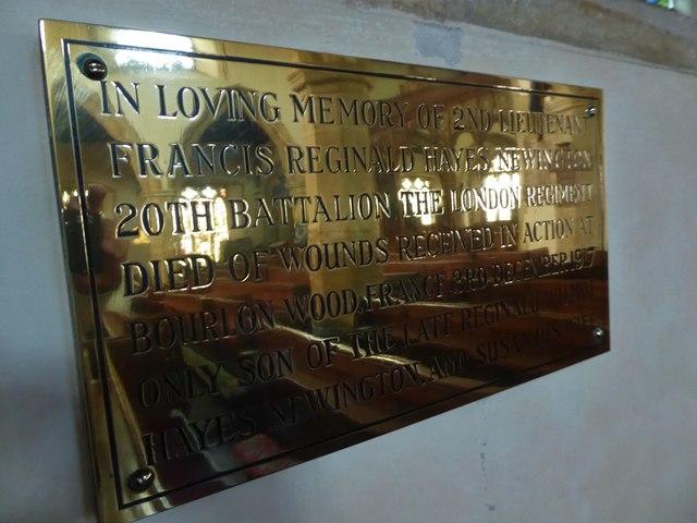 St Mary, Ticehurst: memorial (10)