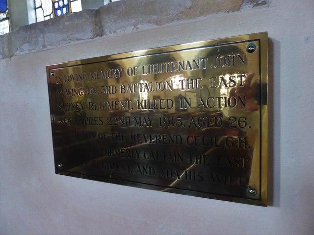 St Mary, Ticehurst: memorial (12)