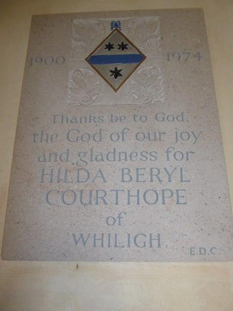 St Mary, Ticehurst: memorial (14)