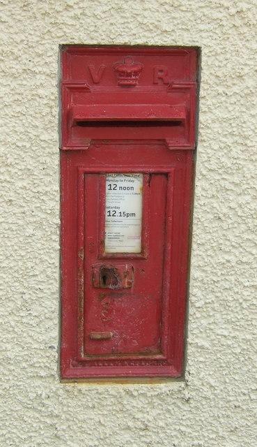 Victorian postbox on the Village Hall, Preston