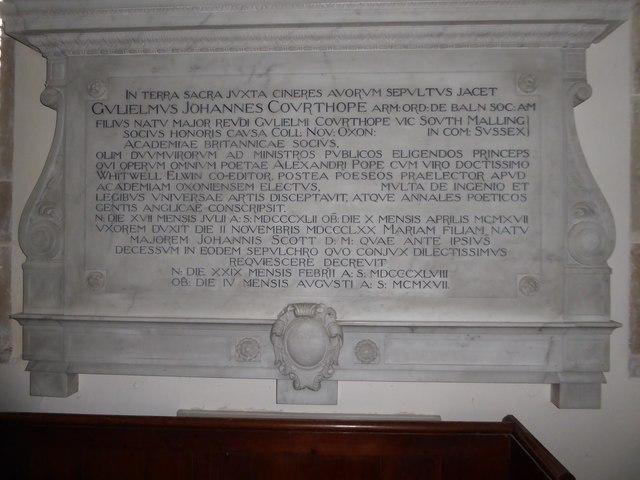 St Mary, Ticehurst: memorial (16)