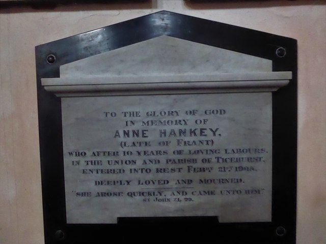 St Mary, Ticehurst: memorial (21)