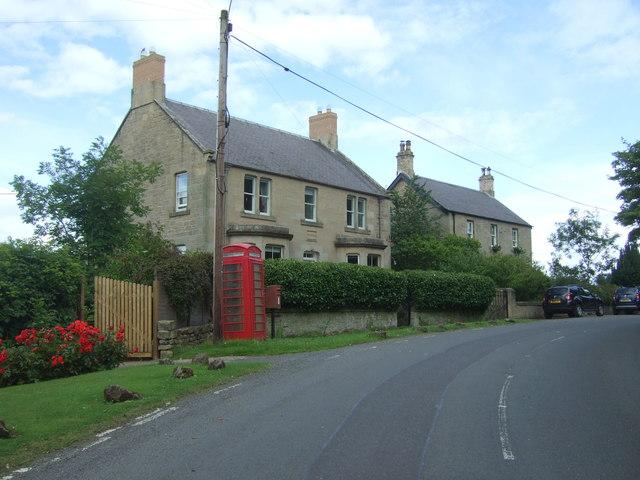 Houses on the B6355, Chirnsidebridge