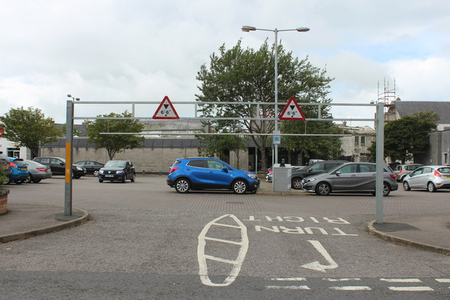 Entrance to Town Centre Car Park, Stranraer
