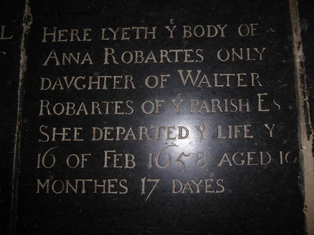 St Mary, Ticehurst: ledger slab (3)