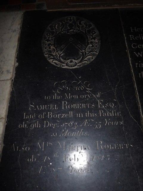 St Mary, Ticehurst: ledger slab (6)