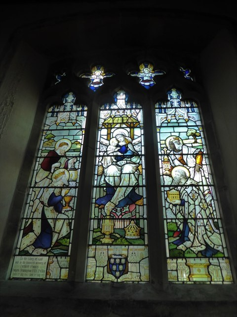 St Mary, Ticehurst: stained glass window (9)