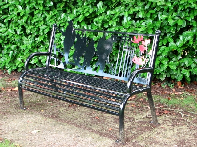 New memorial seat in Poringland's Memorial Garden