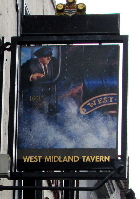 West Midland Tavern name sign, Worcester