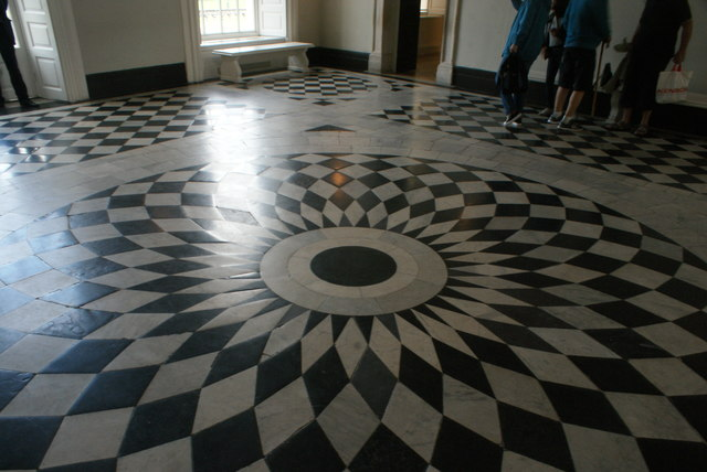 View of the circular floor pattern in the Great Hall of Queen's House #2
