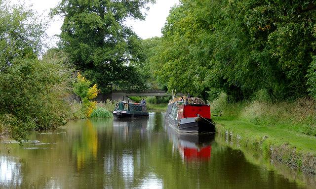 Llangollen Canal at Wrenbury Heath in Cheshire