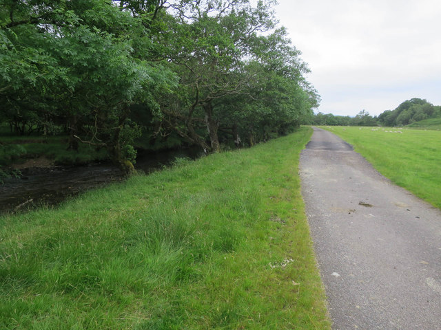 Estate road by River Strae