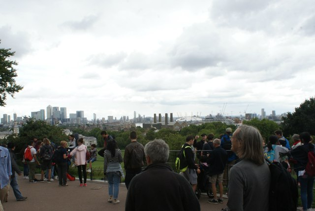 View of the London skyline from Greenwich Park