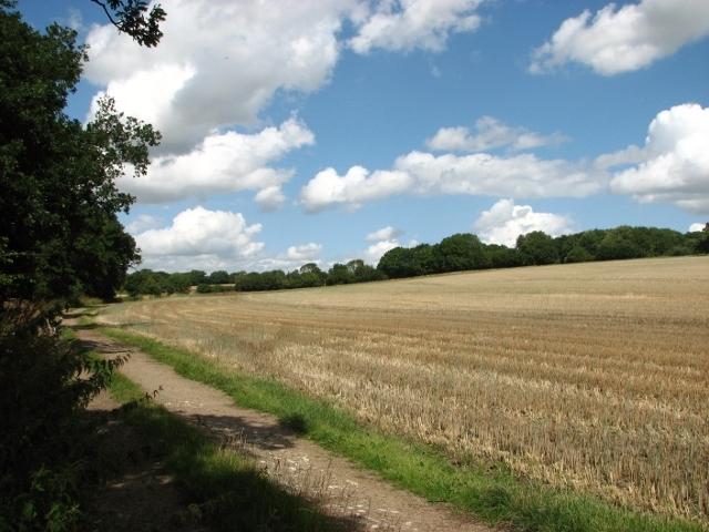 Stubble field beside Wash Lane