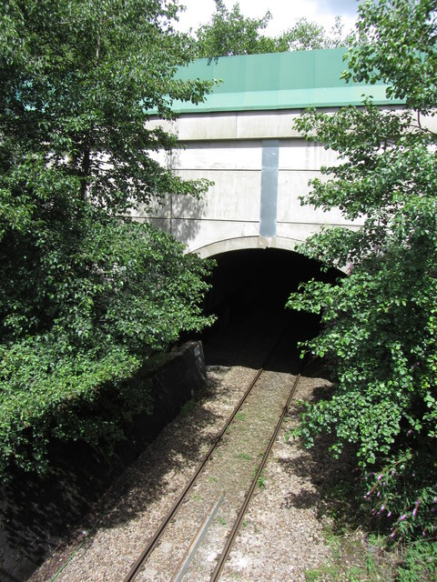 A4046 tunnel above the Ebbw Vale line