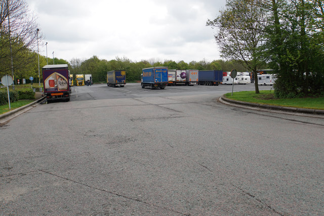 Lorry park at Tamworth Services