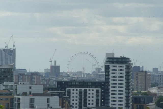 View of the London Eye from One Tree Hill