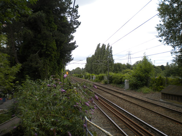 Railway line north of Bournville station
