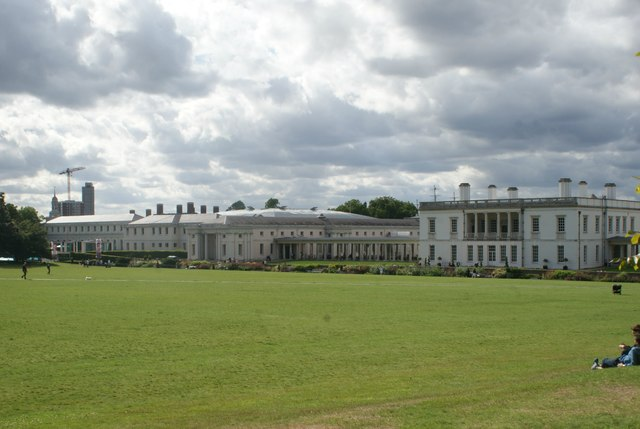 View of Queens House and the National Maritime Museum from Greenwich Park