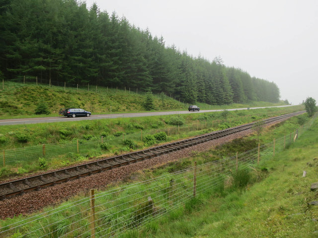 Railway and A82