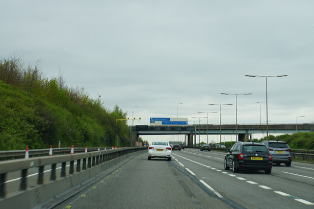 The M1 at Junction 23a