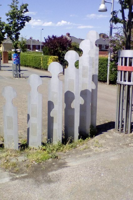 Abstract sculpture, Holly Road, Exeter
