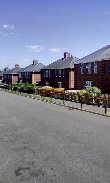Chestnut Avenue, part of the Burnthouse Land housing estate