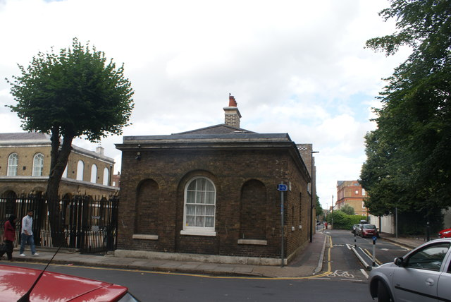 View of a house on the edge of Trafalgar Quarters at the junction of Park Row and Old Woolwich Road