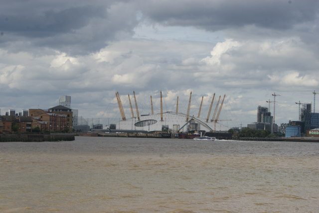 View of the O2 from Greenwich Riverside #2