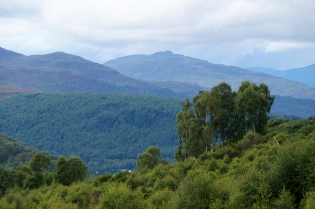 View of Strath Beauly from above Knocknashalavaig
