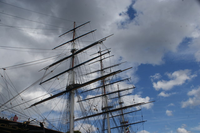 Looking up at the masts of the Cutty Sark #4
