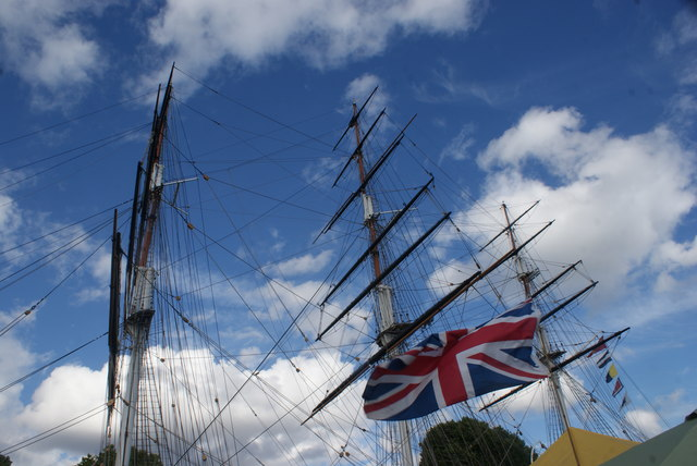 Looking up at the masts of the Cutty Sark #5