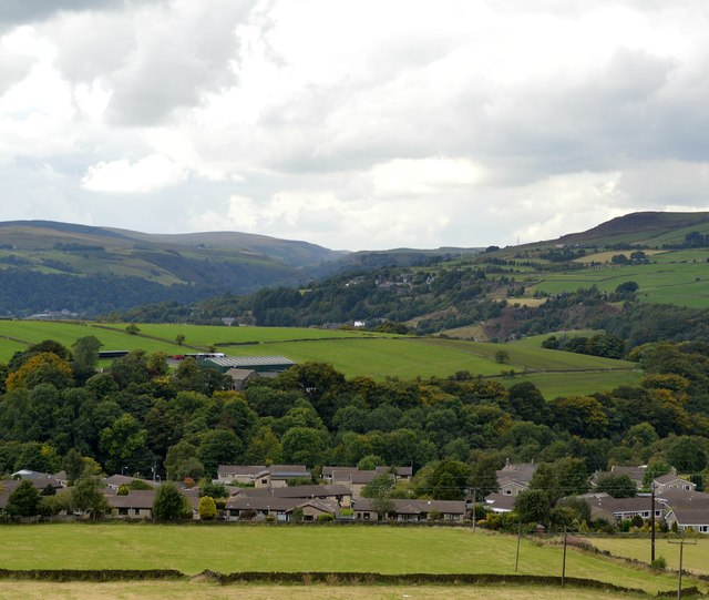 Upper Calder valley view from London Road