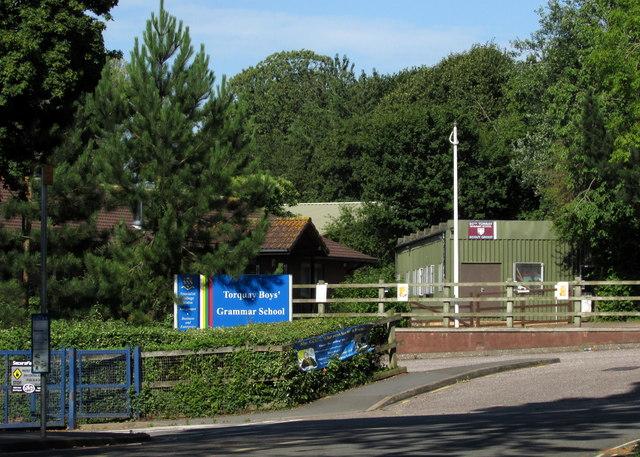 Scout hut and bus stop, Torquay Boys' Grammar School