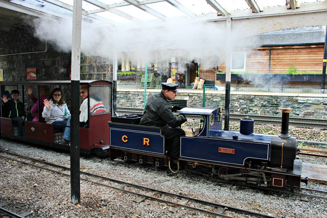 Ross steams through the station