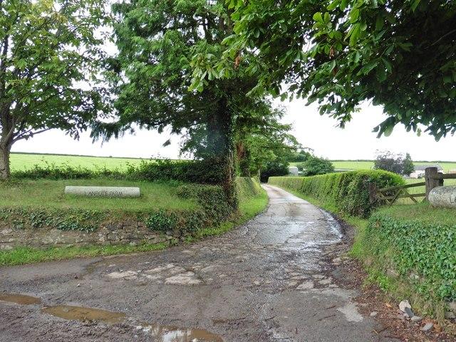 Track to Lambote Farm