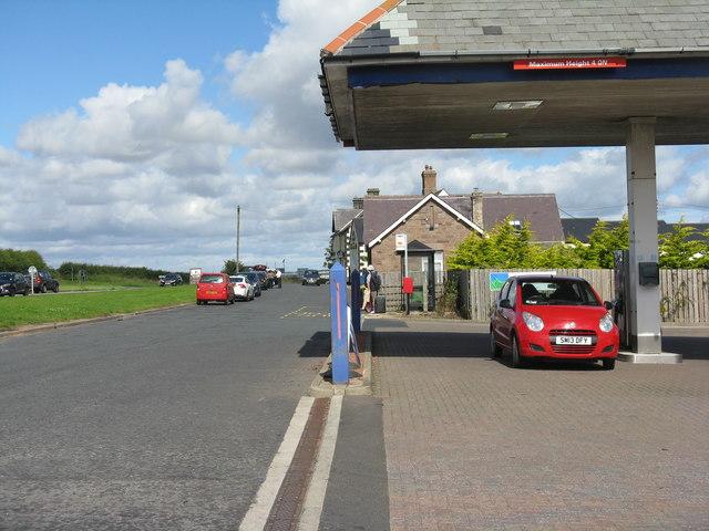 Petrol station at West Mains
