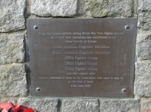 Memorial Plaque on the Raydon Airfield Memorial