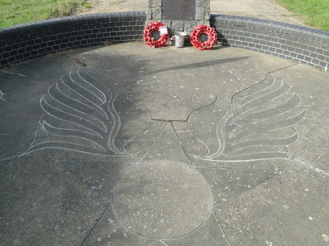 The winged emblem of the USAAF on Raydon Memorial