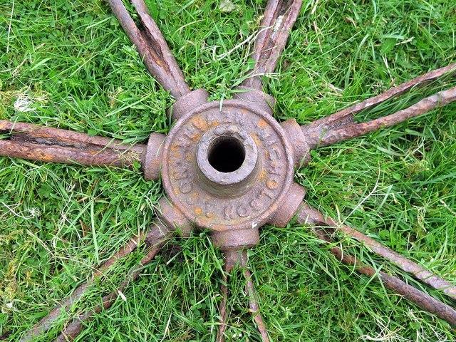 Hub of iron wheel near Buckham's Walls Burn