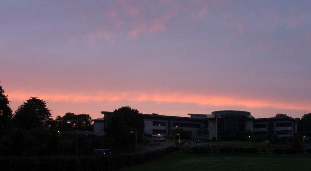Sunset over Torquay Academy