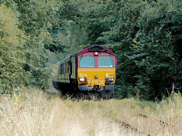 Railtour near Llwydcoed